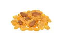 Corn flakes and nuts Royalty Free Stock Image