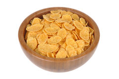 Corn flakes and nuts Stock Image