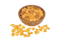 Corn flakes and nuts Royalty Free Stock Images