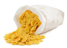 Corn flakes in paper bag Stock Photography