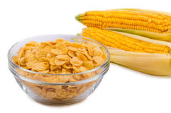 Corn flakes in a plate Stock Photos