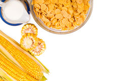 Corn flakes in a plate Royalty Free Stock Photo