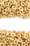 Corn flakes rings as background Stock Photo