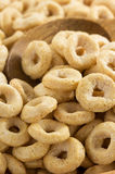 Corn flakes rings as background Royalty Free Stock Photos