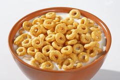 Corn flakes rings breakfast Royalty Free Stock Photos