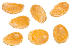 Corn flakes set on white Stock Photos