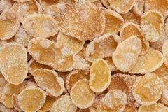 Corn flakes in sugar glazed Stock Image