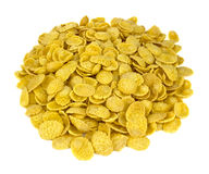 Corn flakes top view on white royalty free stock images