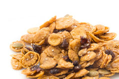 Corn-Flakes und Karamell Lizenzfreie Stockfotos