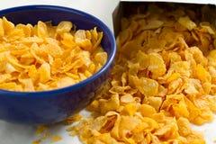 Corn Flakes vom Kastenpaket Lizenzfreies Stockbild