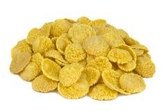 Corn flakes on white background royalty free stock photo