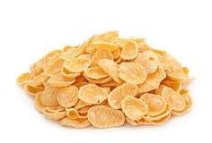Corn flakes on white Royalty Free Stock Image