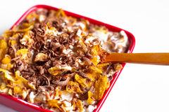 Corn Flakes With Chocolate Royalty Free Stock Photography
