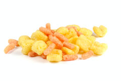 Corn flips. Photo on white background Royalty Free Stock Photo