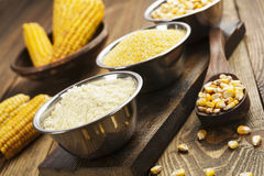 Corn flour, cereals and grains Royalty Free Stock Image