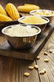 Corn flour, cereals and grains Stock Image