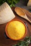 Corn Flour - Italian Polenta Stock Photo
