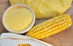 Corn flour for polenta Royalty Free Stock Images