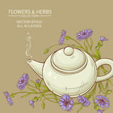 Corn flower tea vector background Royalty Free Stock Image
