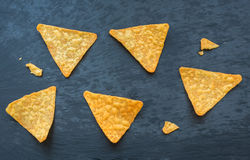 Corn fresh tasty nachos on the table Royalty Free Stock Image