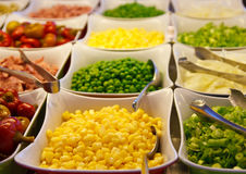Corn and Fresh Vegetables on a Salad Bar Royalty Free Stock Photo