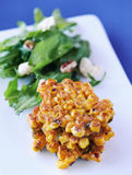 Corn fritter snack Royalty Free Stock Photo