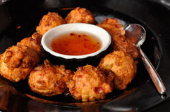 Corn Fritters Stock Photo