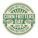 Corn Fritters Day,  July 16 Stock Photo