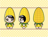 Corn girl Royalty Free Stock Photo