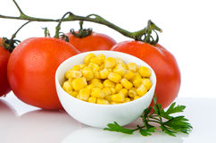 Corn grains on bowl Royalty Free Stock Photo