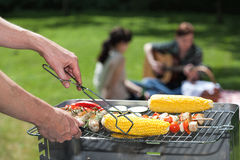 Corn on grill Royalty Free Stock Image
