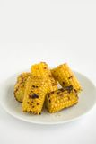 Corn Grilled. Yellow Sweet Corn Char Grilled. A compliment to any Barbeque or picnic Royalty Free Stock Photography