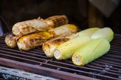 Corn grills on stove Royalty Free Stock Photo