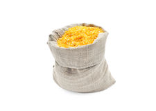 Corn grits in a bag. Stock Photo