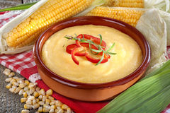 Corn grits polenta Royalty Free Stock Photography