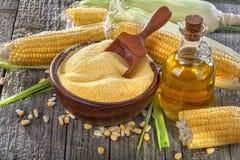 Corn with grits polenta Stock Photos