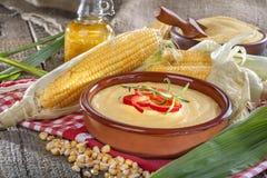 Corn with grits polenta Stock Photo