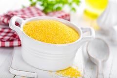 Corn grits Stock Photo