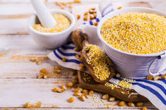 Corn grits and seeds Stock Photo