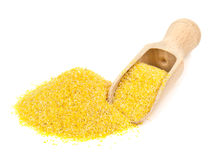 Corn grits on white Royalty Free Stock Image