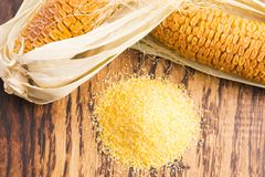 Corn groats and seeds Royalty Free Stock Images