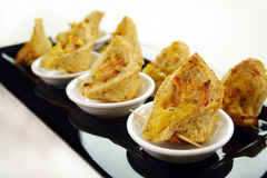 Corn And Ham Triangles Royalty Free Stock Photography