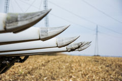 Corn harvest with combain Royalty Free Stock Images