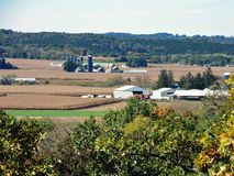 Harvest Time in Wisconsin. The corn harvest has begun in rural Dane County Wisconsin. This early fall scene was taken on a warm afternoon in October royalty free stock photo