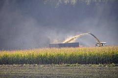 Corn harvesting shredder Stock Photos