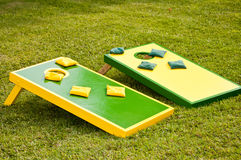 Corn-hole boards Royalty Free Stock Photo