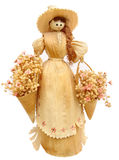 Corn husk doll Stock Image