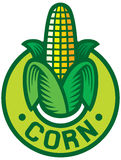 Corn labe. Corn symbol, corn sign, corn badge Royalty Free Stock Photos