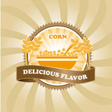 Corn label Stock Photo