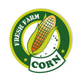 Corn label Stock Photography